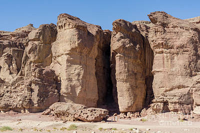 Photograph - Solomon's Pillars In The Timna Valley In Southern Israel. by William Kuta