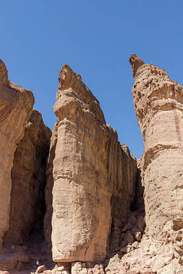 Photograph - Solomon's Pillars In Timna Valley In The Negev Desert In Souther by William Kuta