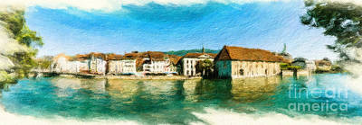 Digital Art - Solothurn Cityscape 2 by DiFigiano Photography