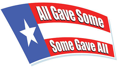 Kitchen Signs - Some Gave All by Greg Joens