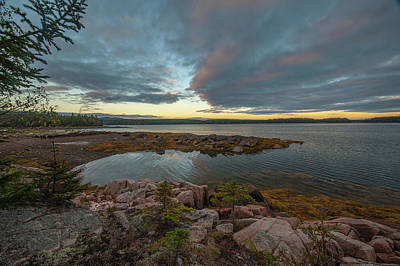 Art Print featuring the photograph Somes Sound Sunset by Rick Hartigan
