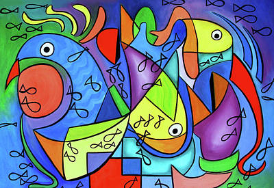 Painting - Something Fishy by Anthony Falbo