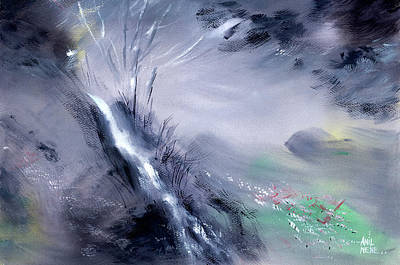 Painting - Somewhere Deep Into The Woods by Anil Nene