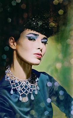 Photograph - Sondra Peterson In A Scaasi Necklace by Horst P. Horst