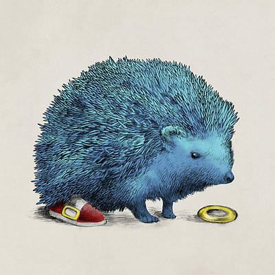 Drawing - Sonic by Eric Fan