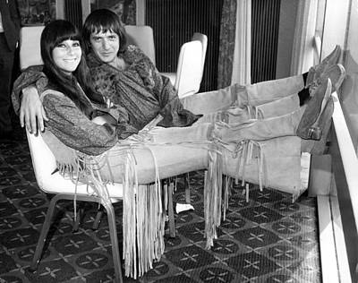 Photograph - Sonny And Cher by Douglas Miller