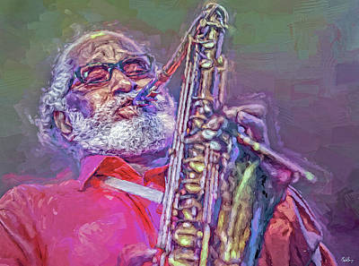 Jazz Mixed Media Royalty Free Images - Sonny Rollins Royalty-Free Image by Mal Bray