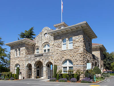Photograph - Sonoma City Hall Sonoma Plaza Main Square Sonoma California R21 by Wingsdomain Art and Photography