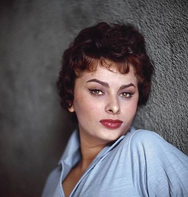 Photograph - Sophia Loren Portrait Session by Earl Theisen Collection