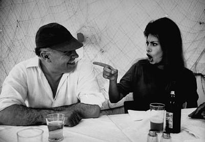 Photograph - Sophia Lorencarlo Ponti & Wife by Alfred Eisenstaedt