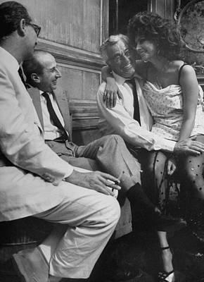 Photograph - Sophia Lorenvittorio De Sica by Alfred Eisenstaedt