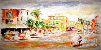 Mixed Media - Sorrento Italy Impression by Ginette Callaway