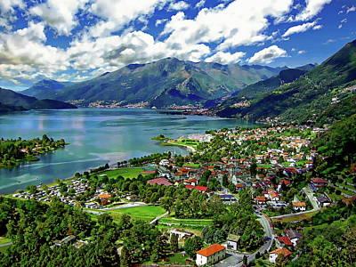Photograph - Sorico And Lake Como by Anthony Dezenzio