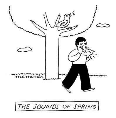Drawing - Sounds Of Spring by Elisabeth McNair