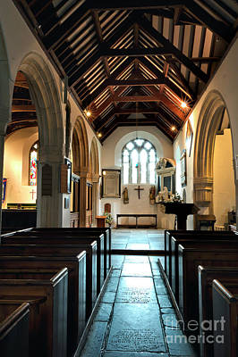 Photograph - South Aisle And Lady Chapel St Mylor by Terri Waters