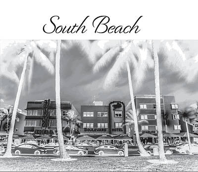 Photograph - South Beach Silhouette by John McGraw