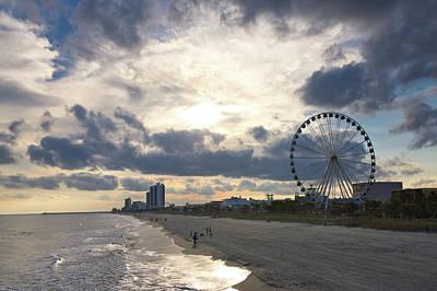 Photograph - South Carolina Coastline - Myrtle Beach by Andrea Anderegg