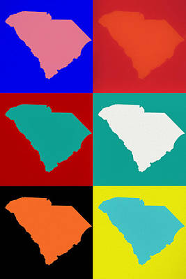 Mixed Media - South Carolina Pop Art by Dan Sproul