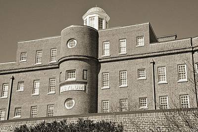 Photograph - South Carolina State Hospital Asylum Black And White by Lisa Wooten