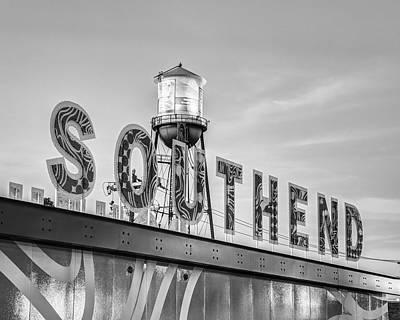 Photograph - South End B/W by Chris Austin