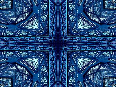 Photograph - South Grand Island Ny Bridge Warp Abstract 1 by Rose Santuci-Sofranko