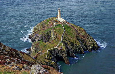 Photograph - South Stack Lighthouse by Anthony Dezenzio