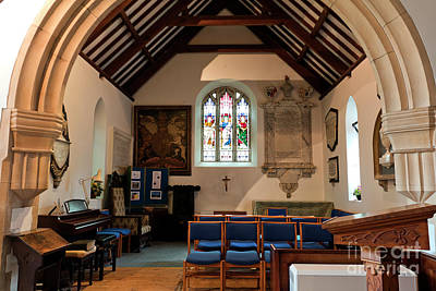 Photograph - South Transept Mylor Church by Terri Waters