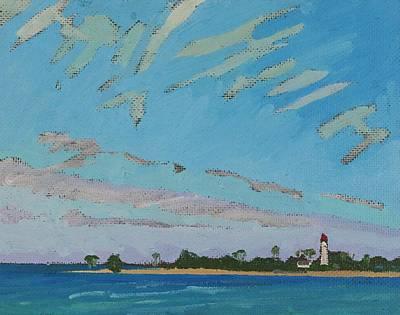 Painting - Southampton Jet Stream Cirrus by Phil Chadwick
