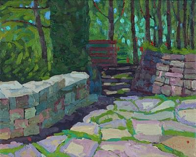 Painting - Southampton Saugeen Amphitheatre Hidden Garden by Phil Chadwick