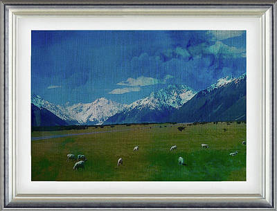 Photograph - Southern Alps New Zealand by Clive Littin
