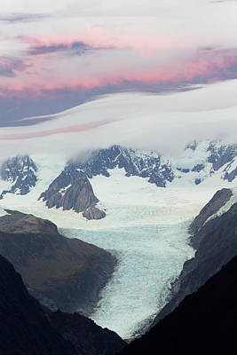 Photograph - Southern Alps Range And Glaciers At by Eastcott Momatiuk