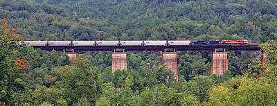 Photograph - Southern Belle On Wells Viaduct Pano by Joseph C Hinson Photography