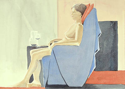 Painting - Sovande Sittande Sitting Asleep 2013 06 15-16_0091 4 Mb Up To 61x91 Cm  by Marica Ohlsson