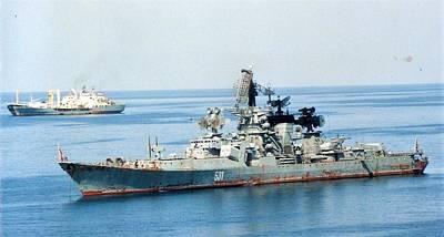 Photograph - Soviet Navy Kresta II Class Cruiser by Jamie Baldwin