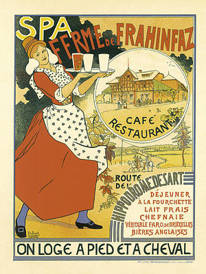 Painting - Spa Cafe Vintage French Advertising by Vintage French Advertising