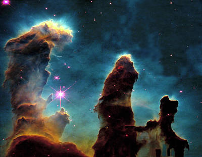 Photograph - Spac101 Pillars, Eagle Nebula by Arnie Rosner