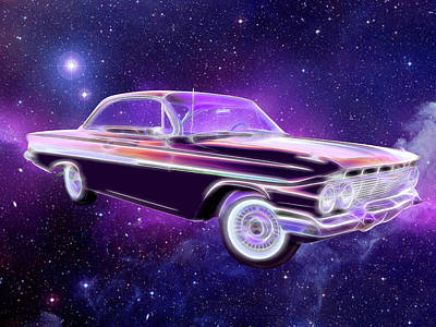 Digital Art - Space Age Chevy. by Rick Wicker