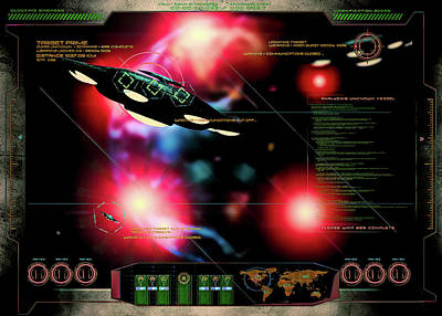 Digital Art - Space Invaders by Bob Orsillo