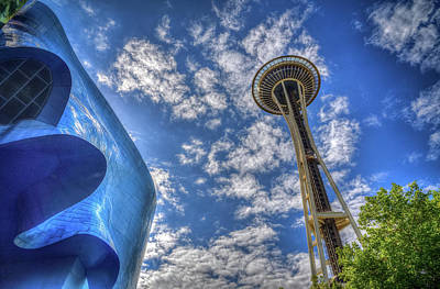 Photograph - Space Needle And Emp by Spencer McDonald