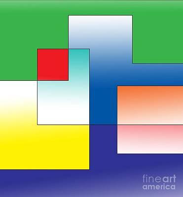 Digital Art - Space Organization by Alex Caminker