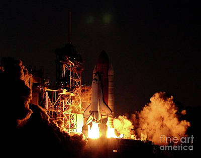 Kids Alphabet Royalty Free Images - Space Shuttle Atlantis 2001 Royalty-Free Image by Atlas Photo Archive
