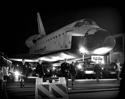 Photograph - Space Shuttle Endeavour Traveling La by Donaldson Collection