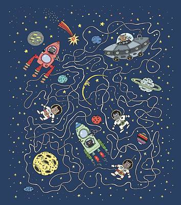 Ufo Wall Art - Painting - Space Travel by ArtMarketJapan