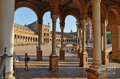 Photograph - Spain Square And Pillars by Angelo DeVal
