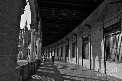 Photograph - Spain Square In Monochrome by Angelo DeVal