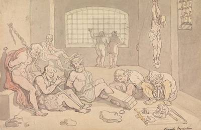 Drawing - Spanish Inquisition by Thomas Rowlandson