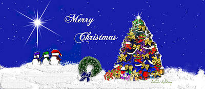 Belinda Landtroop Royalty-Free and Rights-Managed Images - Sparkles Merry Christmas by Belinda Landtroop