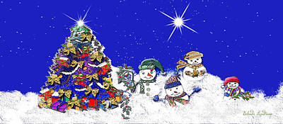 Belinda Landtroop Royalty-Free and Rights-Managed Images - Sparkles Snow Children by Belinda Landtroop