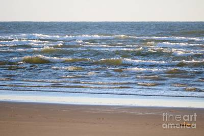 Photograph - Sparkling Waves With Beach by Carol Groenen