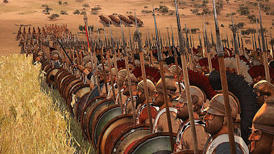 Painting - Spartan Army At War - 20 by Andrea Mazzocchetti